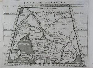 Słowianie, mapa z 1598 roku, wg Ptolemeusza