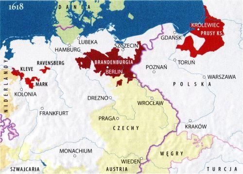 Brandenburgia i Prusy Książęce 1618 r.