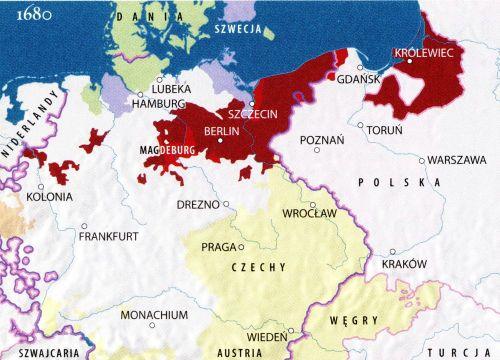 Brandenburgia Prusy 1680 r.