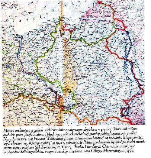 Granice Polski wytyczone przez Stalina