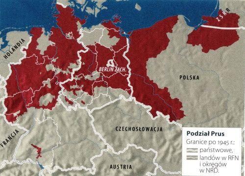 Podział Prus 1945 r.