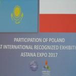 Plakat informujący o udziale Polski w Expo 2017