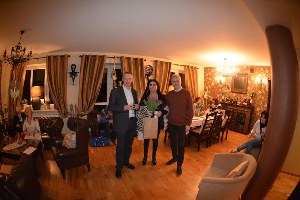 Jerzy Rudnicki (współwłaściciel JJW), Monika Iskandar i Damian A. Zaczek