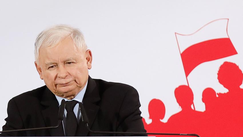 Fot. Michal Wozniak/East News, Legionowo, 26.09.2019. Konwencja Prawa i Sprawiedliwosci z udzialem prezesa PiS Jaroslawa Kaczynskiego (n/z).