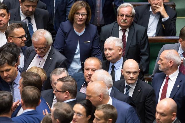 Kaczynski w Sejmie