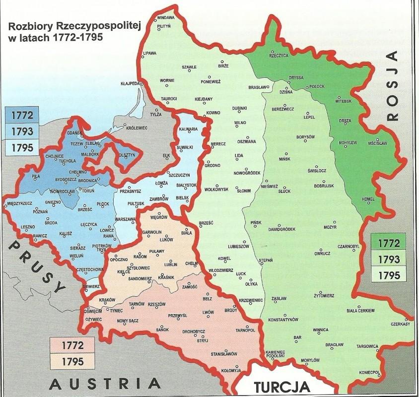 mapa rozbiory